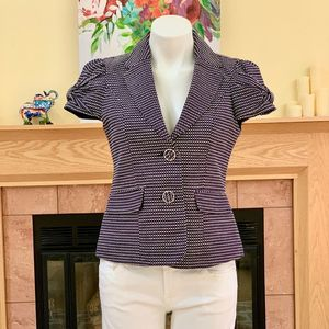 The Limited Bow Cap Sleeve Textured Blazer S